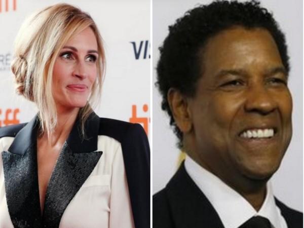 Actors Julia Roberts and Denzel Washington