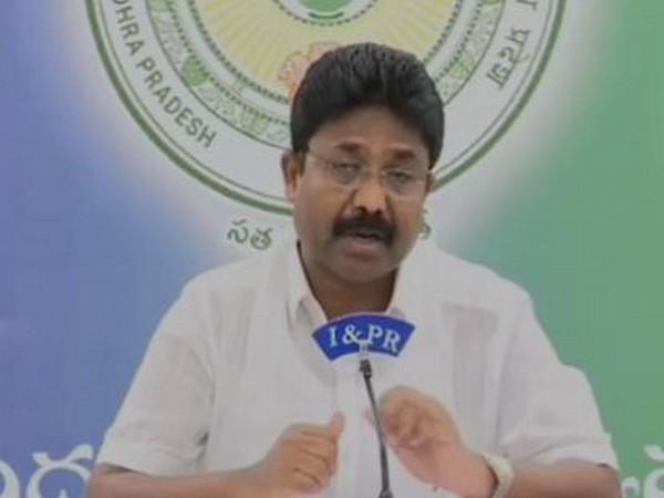 Andhra Pradesh Education Minister Adimulapu Suresh (File Photo/ANI)