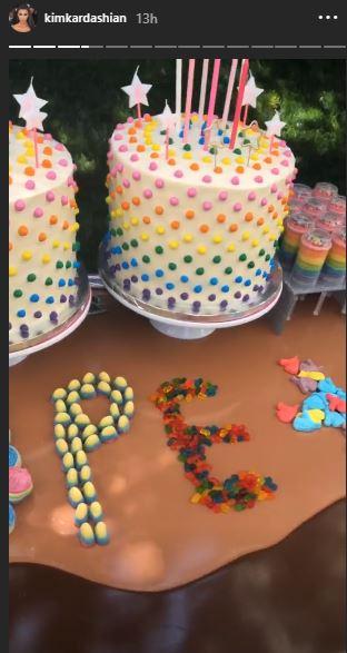 Cool Kim Kourtney Kardashian Celebrate Daughters Birthdays With Candy Funny Birthday Cards Online Fluifree Goldxyz