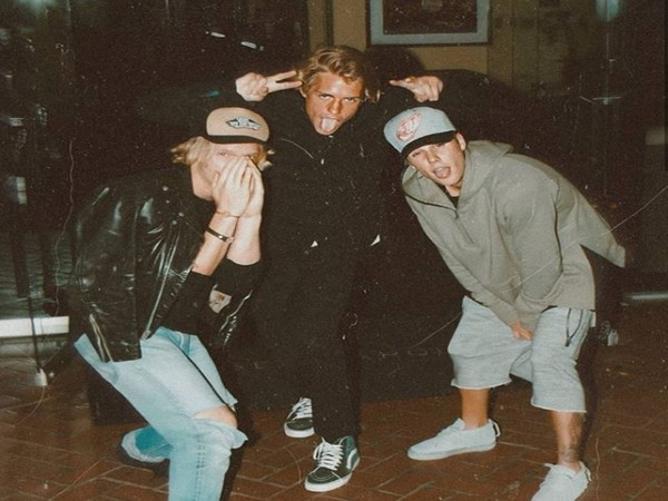 Singer Justin Bieber with Cody Simpson and Corey Harper (Image courtesy: Instagram)