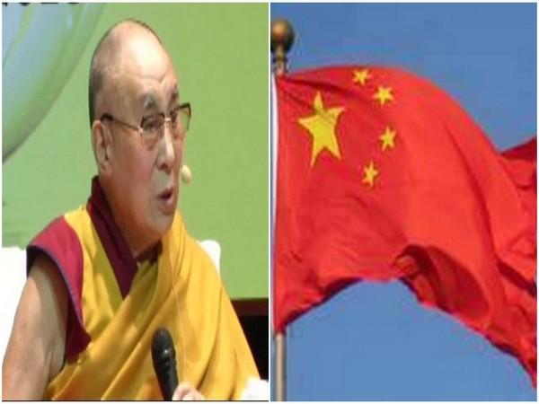 Dalai Lama and China flag