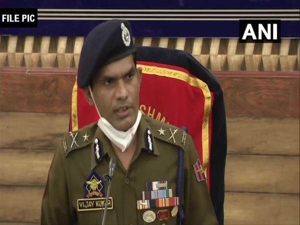 Inspector General of Police (IGP) of Kashmir, Vijay Kumar (Photo/ANI)