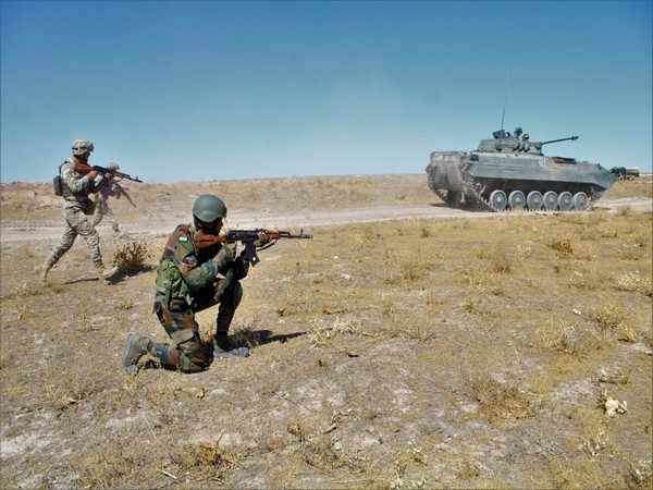 5th edition of the annual bilateral joint exercise KAZIND-21 at Training Node Aisha Bibi, Kazakhstan. (Twitter)