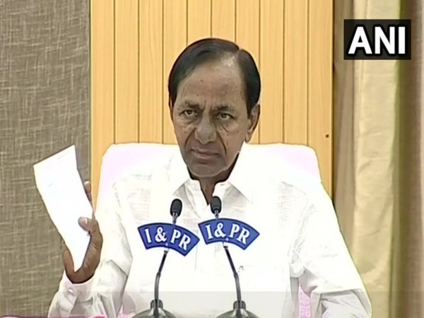 Telangana Chief Minister K Chandrashekhar Rao (File Photo/ANI)