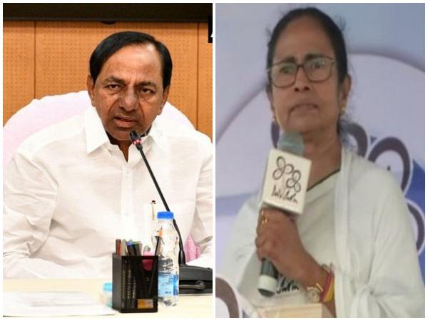 K. Chandrashekar Rao and Mamata Banerjee (File Photos)