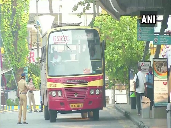 KSRTC is running only minimal bus services in Kerala, taxis and autos also kept away from roads. (Photo/ANI)
