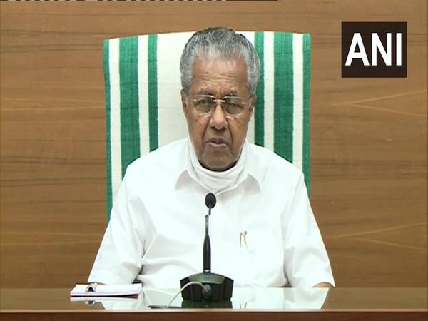 Kerala Chief Minister Pinarayi Vijayan addressing a press conference on Friday. (Photo/ANI)
