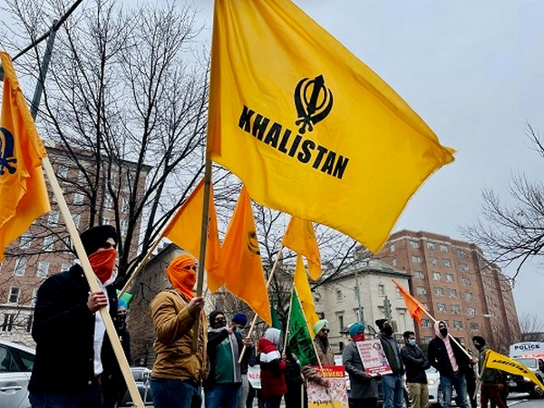 Khalistani separatists along with others were seen in support of farmers outside the Indian embassy in Washington DC on Tuesday.