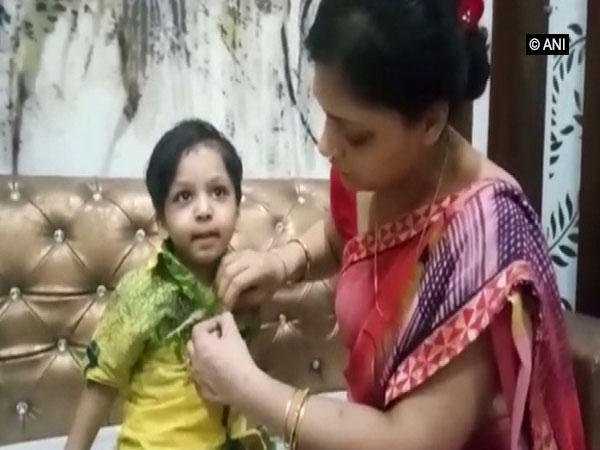 Aaradhy, the 3-year-old mauled by stray dogs in Mathura (Photo/ANI)