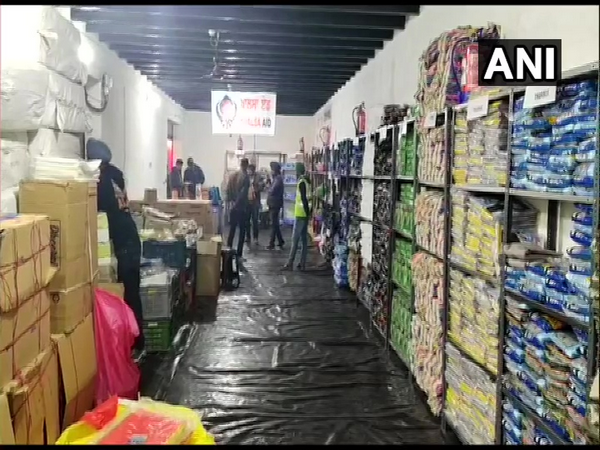 Khalsa Aid has set up Kisan Mall at Tikri border to provide items of daily use to farmers. (Photo/ANI)