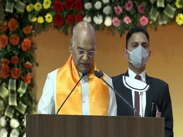 President Ram Nath Kovind in Gujarat (Photo/ANI))