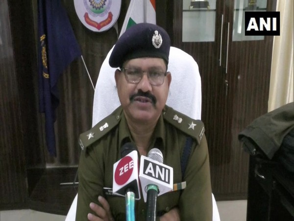 Superintendent of Police (SP) Balrampur, TR Koshima speaking to reporters on Monday. Photo/ANI