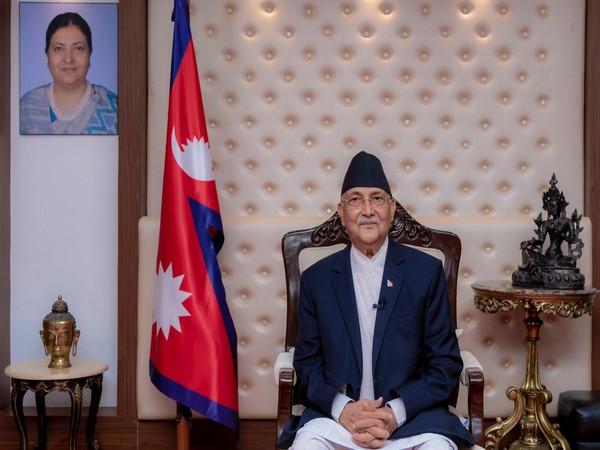 Nepal Prime Minister KP Sharma Oli addressing the nation.