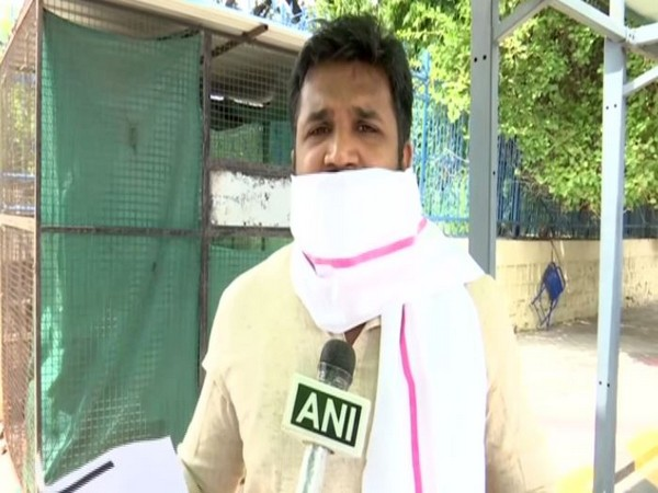 TRS spokesperson Krishank speaking to ANI on Tuesday. Photo/ANI