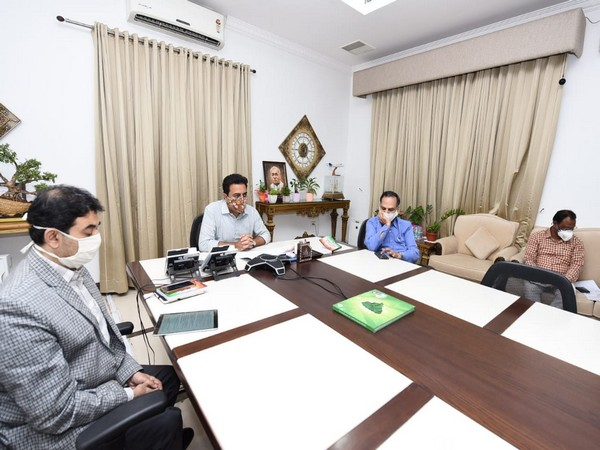 KT Rama Rao attended a webinar hosted by Invest India Exclusive Investment Forum under the title 'Textile and Apparel Sector Edition' on Monday.