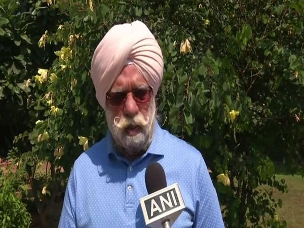 Senior Congress leader KTS Tulsi speaking to ANI in New Delhi on Sunday. Photo/ANI