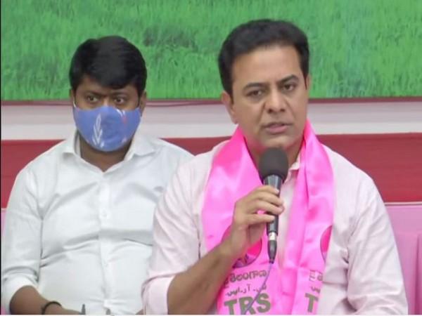 Telangana IT and Municipal Administration and Urban Development Minister KT Rama Rao. (Photo/ANI)