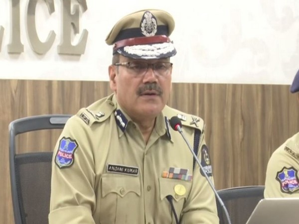 Anjani Kumar, Police Commissioner of Hyderabad, speaking to medis persons on Friday. (Photo/ANI)