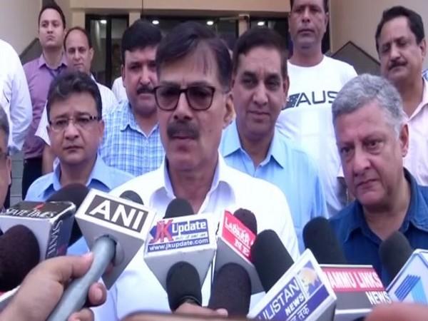 K Vijay Kumar while talking to reporters in Jammu on Wednesday. Photo/ANI