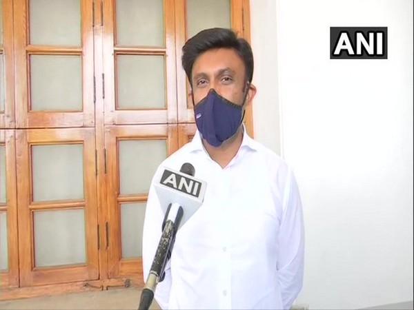Karnataka Health and Medical Education Minister K Sudhakar. [Photo/ANI]