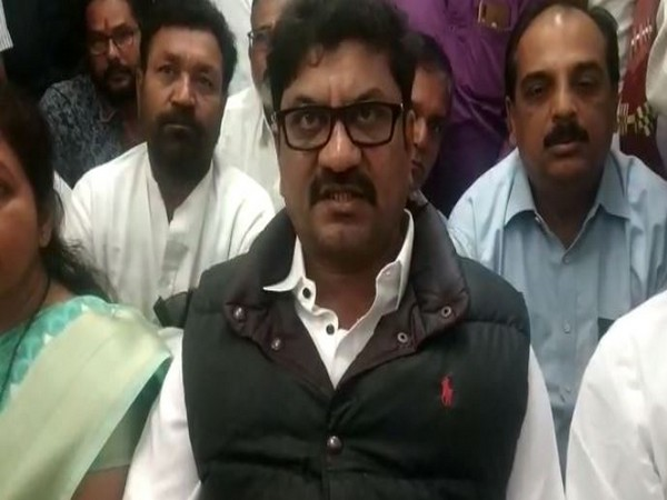 Congress MLA from the Jalna Assembly seat, Kailash Goryantal speaking to reporters. Photo/ANI