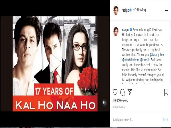 17 Years of 'Kal Ho Na Ho' (Image Courtesy: Instagram)