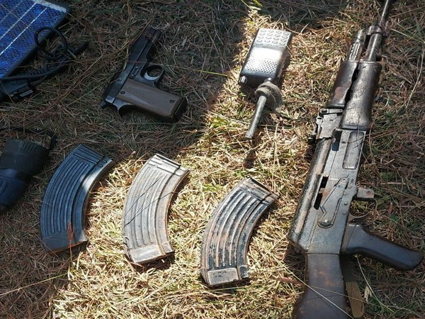 A visual of the recovered arms and ammunition. [Photo/ANI]