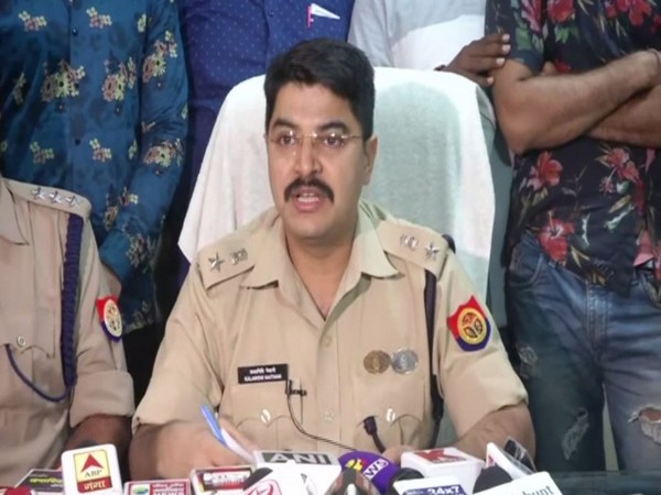 Senior Superintendent of Police (SSP) Kalanidhi Naithani speaking at a press conference in Lucknow on Sunday. Photo/ANI