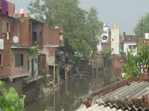 Visuals of flood-affected Kalyani view in Rudrapur district of Uttarakhand (Photo/ANI)