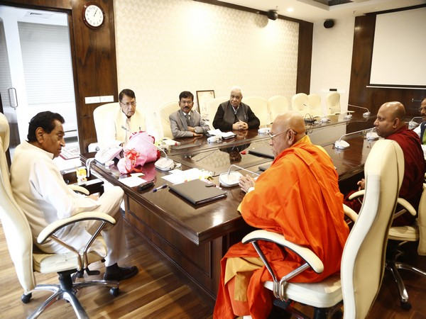 Visual from meeting between members of Mahabodhi society and CM Kamal Nath. Photo/MP info