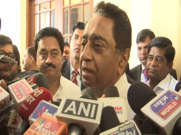 Madhya Pradesh Chief Minister Kamal Nath speaking to reporters on the Delhi Assembly polls in Bhopal on Tuesday. Photo/ANI
