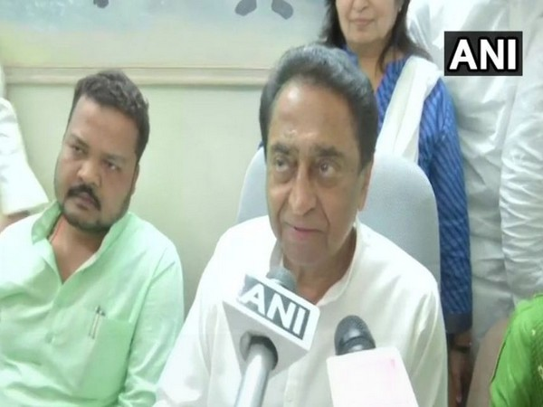 Chief Minister Kamal Nath addressing media reporters after voting on Criminal Law (Amendment) bill on Wednesday. Photo/ANI