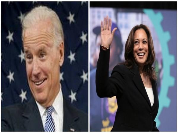 US Democratic presidential nominee Joe Biden and Kamala Harris