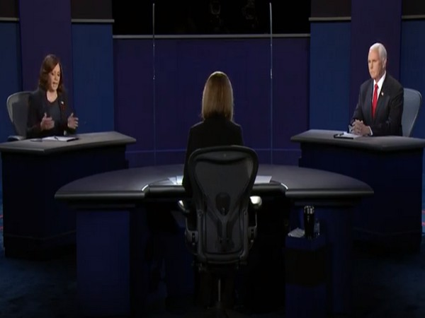 US Vice President candidates Kamala Harris and Mike Pence in the Vice Presidential debate.