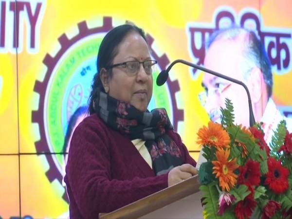 Uttar Pradesh Technical Education Minister Kamla Rani Varun at an event in Lucknow, UP. Photo/ANI