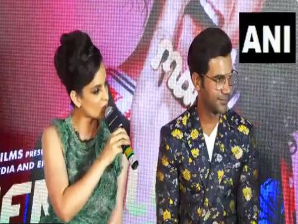 Kangana Ranaut speaking to reporters at the event on July 7