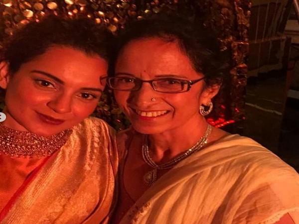 Bollywood actor Kangana Ranaut with her mother, Asha Ranaut (Image courtesy: Instagram)