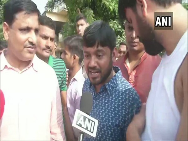CPI candidate Kanhaiya Kumar speaking to ANI