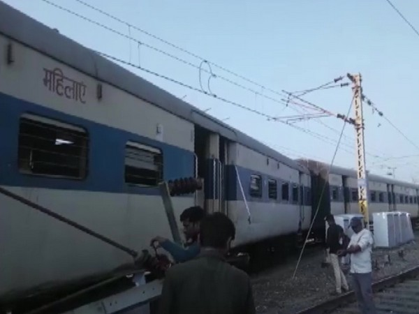 Four train coaches derailed at Kanpur Railway Station on Wednesday. [Photo/ANI]