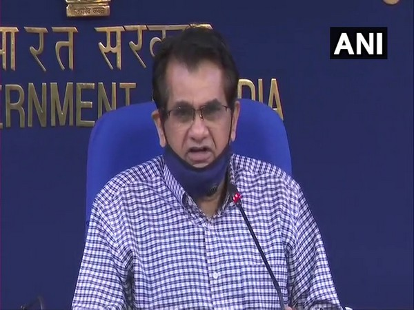 Amitabh Kant speaking to reporters in New Delhi on Monday.