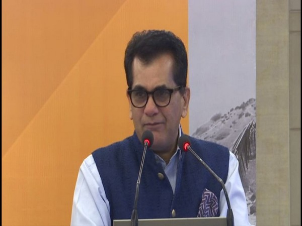 NITI Aayog Chief Executive Officer Amitabh Kant while addressing an event in Delhi on Saturday. [Photo/ANI]