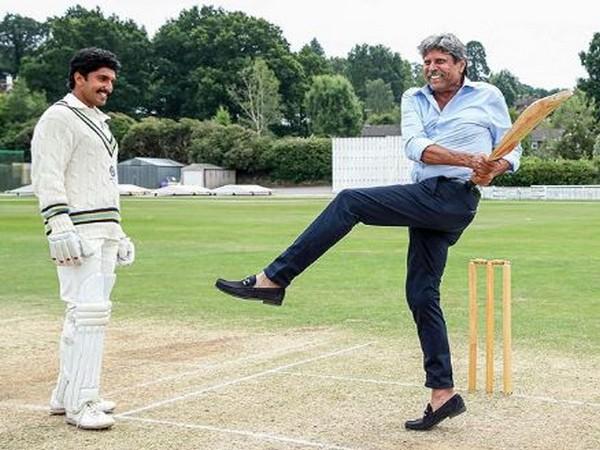 Actor Ranveer Singh (left) with former cricketer Kapil Dev (right) (Photo/ Ranveer Singh Instagram)
