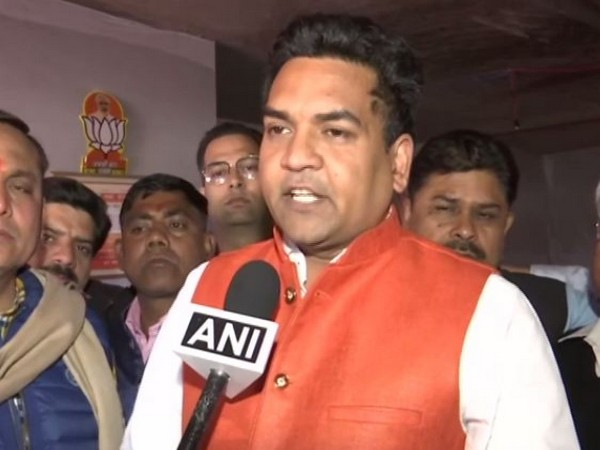 BJP leader Kapil Mishra speaking to ANI in New Delhi on  Monday. Photo/ANI