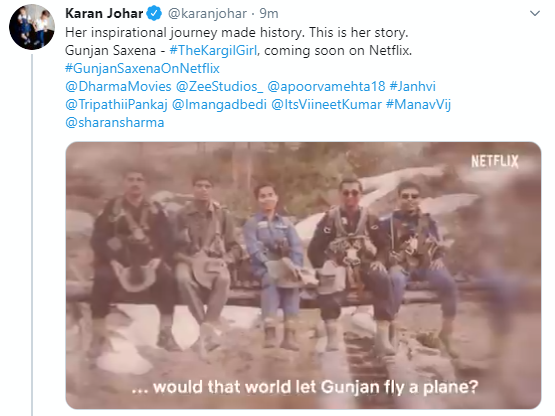 Gunjan Saxena The Kargil Girl To Premiere On Netflix