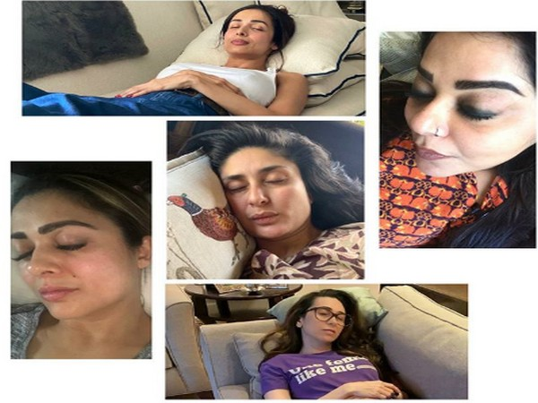 Kareena Kapoor Khan napping with her friends (Picture Source: Instagram)