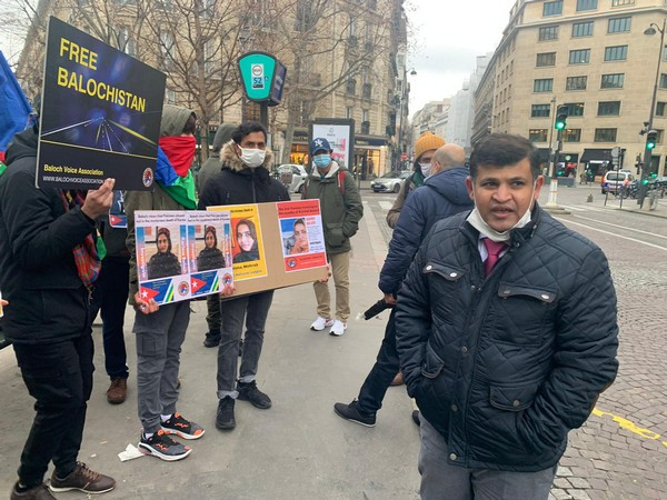 Protest outside Canadian embassy in Paris to seek justice for Karima Baloch (ANI)