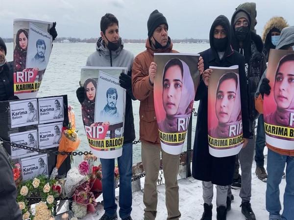 Vigil held for slain activist Karima Baloch in Toronto (ANI/Photo)