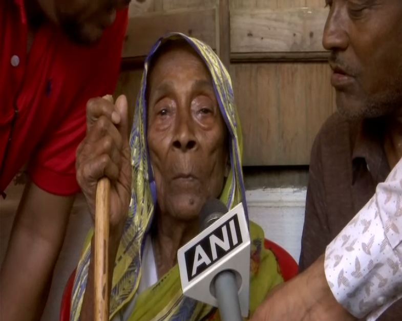 Saraguna Bibi speaking to ANI in Assam.