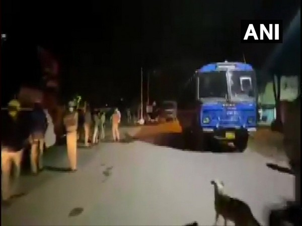 Visuals from Bengaluru's DJ Halli Police Station area where violence broke out over an alleged inciting social media post. Photo/ANI