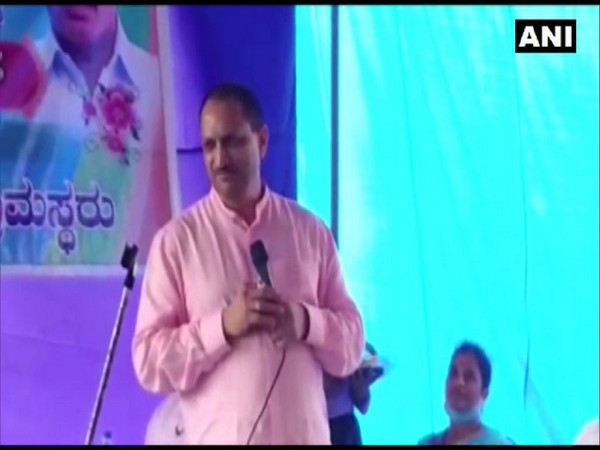 BJP MP Ananthkumar Hegde speaking at an event in Uttara Kannada district of Karnataka. (Photo/ANI)